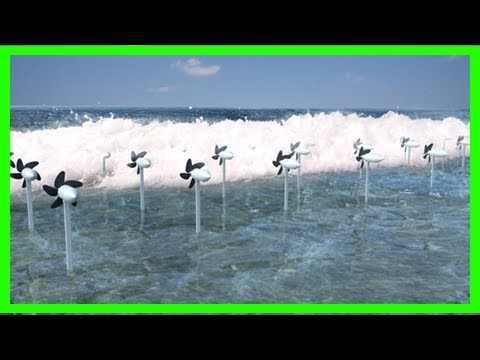Breaking News | Japanese turbines catch the waves to harvest energy and protect the coastline