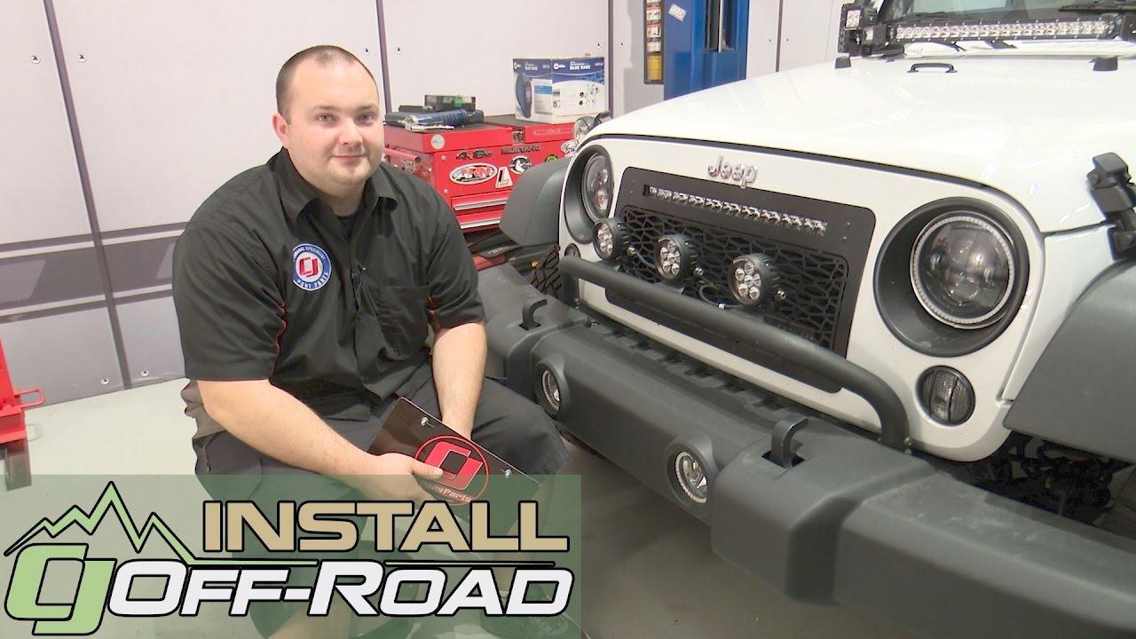 Jeep Wrangler JK License Plate Bracket STO N SHO 2007 2018 Installation