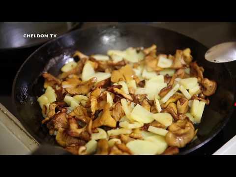 Как приготовить грибы лисички жареные с картошкой смотреть видео