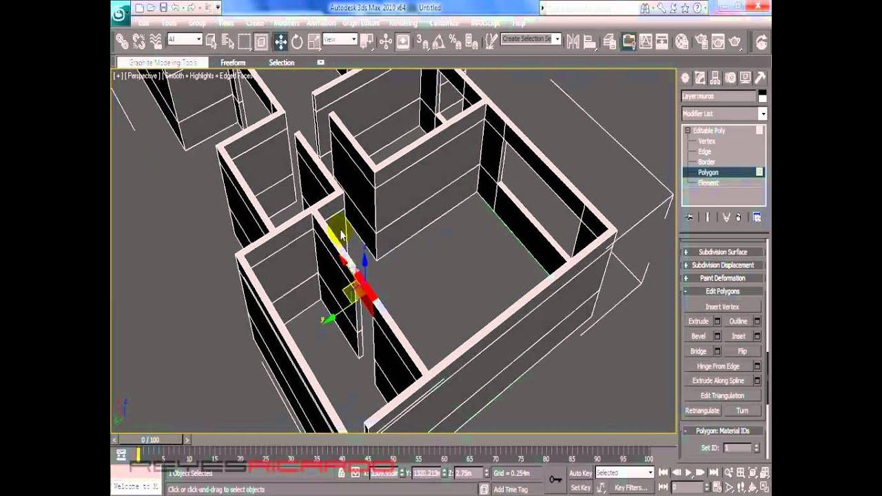 Modelar casa en 3d max partiendo de un plano youtube for Programa para distribuir una casa
