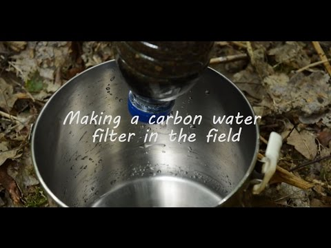 Making a carbon water filter in the field