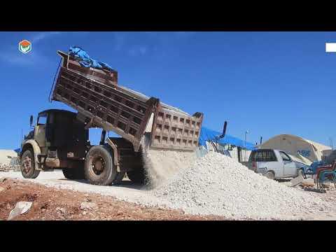 مشروع تحسين البنى التحتية في في 9 مخيمات في ادلب