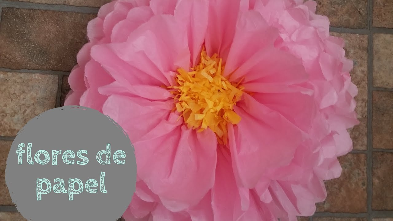Diy Flores Con Papel De China O Seda Como Hacer Youtube