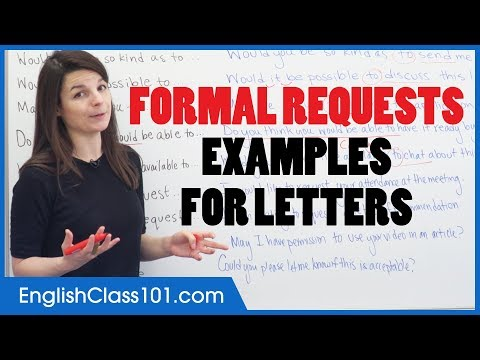 How to Make Formal Requests in English - English Letter Writing Examples