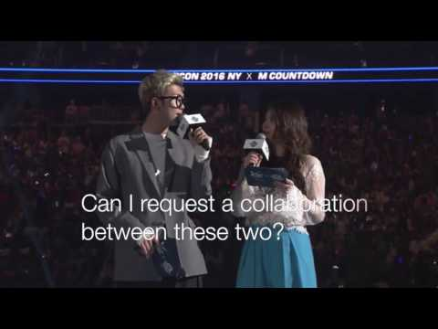 Bts Rap Monster & Ailee moments at kcon New York 2k16