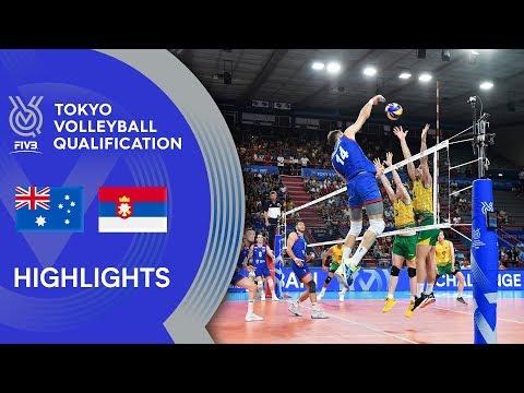 AUSTRALIA Vs. SERBIA - Highlights Men | Volleyball Olympic Qualification 2019