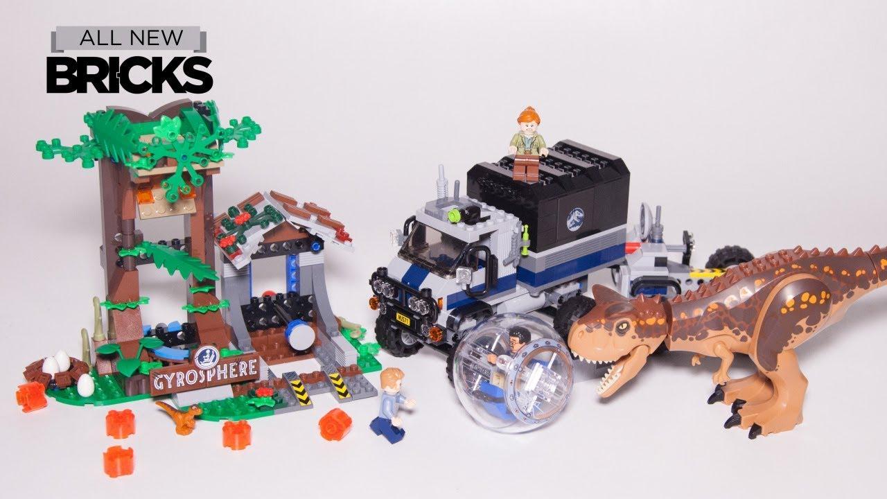 Lego Jurassic World Carnotaurus Gyrosphere Escape Lego Speed Build 75929