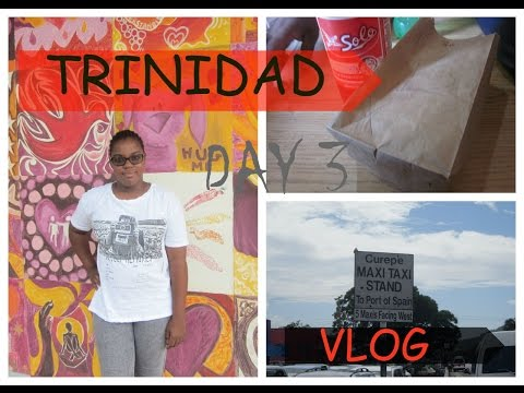Travel Vlog: Trinidad DAY 3 - DOUBLES, ROTI, PORT OF SPAIN AND GOING BACK HOME