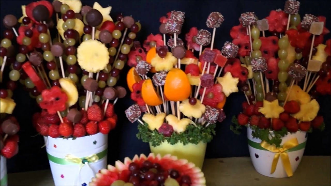 Decoracion con fruta youtube for Secar frutas para decoracion