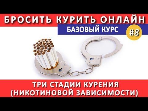 #8. Три стадии никотиновой зависимости (курения)