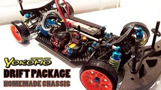 RC DRIFT CAR - YOKOMO Drift Package Homemade Chassis