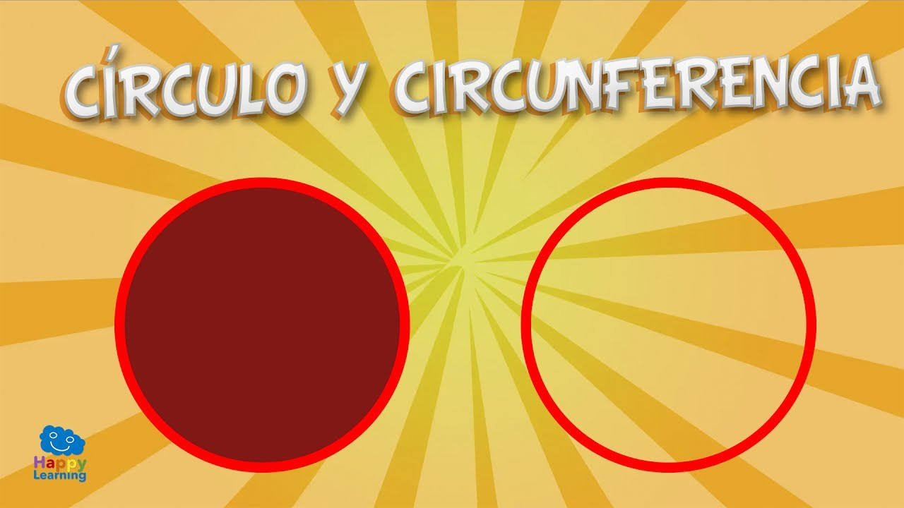 círculo y circunferencia videos educativos para niños youtube