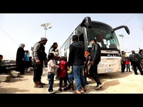 Ghouta evacuees arrive in Syria's rebel-held Idlib: monitor
