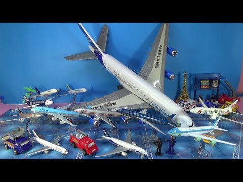 Unboxing Airbus 380 A330 Boeing 737 777 747 757 787 Fedex American Asia China Korean Vietnam toys