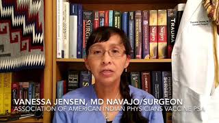Vanessa Jensen, MD (Navajo) General Surgeon discusses what to expect post-vaccination.