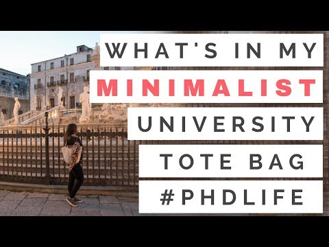 WHAT'S IN MY MINIMALIST UNIVERSITY BAG? | 3RD YEAR PHD RESEARCHER