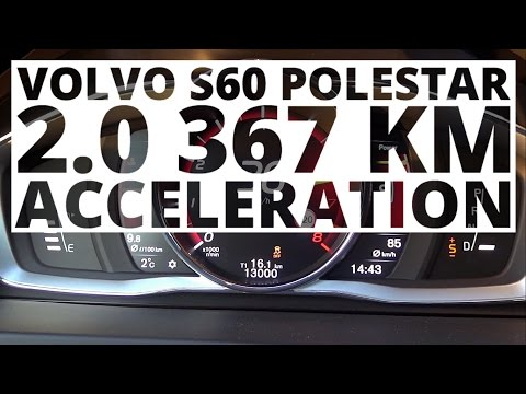 Wonderful Volvo S60 Polestar 20 T6 367 Hp AT  Acceleration 0100 Kmh