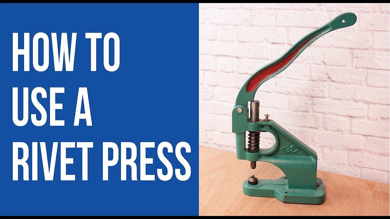 Ask Sara: How to Use a Rivet Press