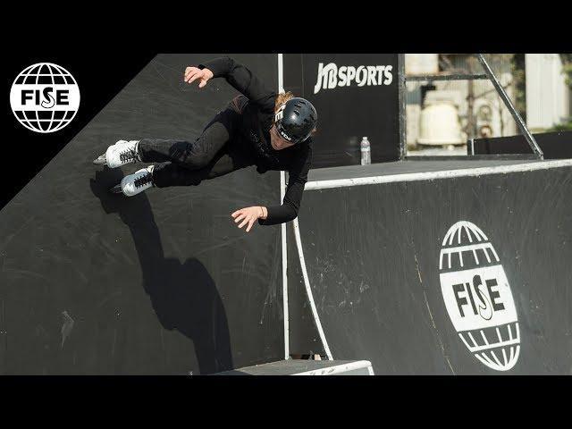 Joe Atkinson   1st Final World Skate Roller Freestyle Park Cup - FISE Hiroshima 2018