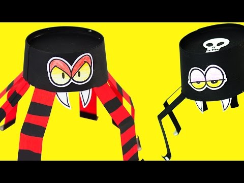 Paper Spider - DIY Halloween Crafts Ideas for Kids | Box Minis