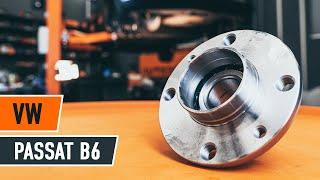 Cómo cambiar el cojinete trasero del cubo en VW PASSAT B6 [INSTRUCCIÓN]