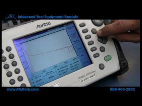 How to Use Anritsu MT9083A OTDR (Optical Time Domain Reflector)