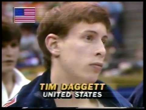 Gymnastics - 1984 McDonalds USGF American Cup - Indianapolis IN - Mary Lou Retton & Tim Daggett