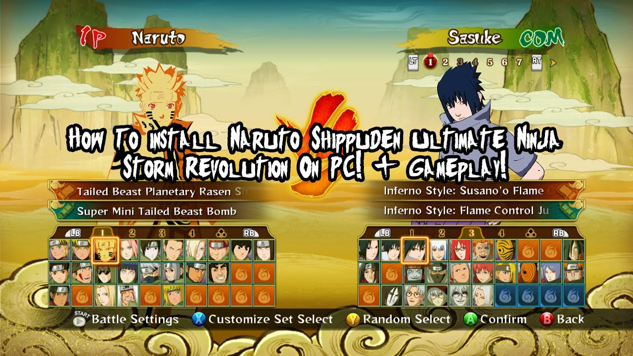 How To install Naruto Shippuden Ultimate Ninja Storm Revolution On PC! +  Gameplay