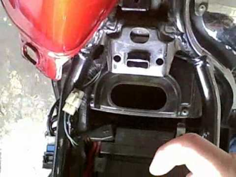 How To Change A Motorcycle Air Filter Youtube