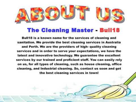 The Cleaning Master - Bull18 Cleaners Perth