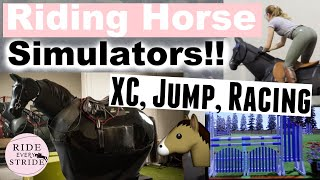 First time riding MECHĄNICAL Horses!! | Jump, XC & Race Simulator | Ride Every Stride