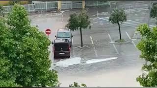 Nubifragio a Corato, la situazione in via Lago di Viti