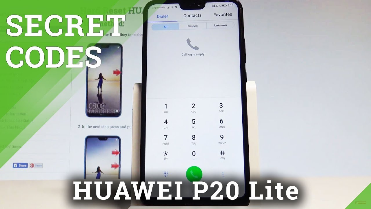 Secret Codes HUAWEI P20 Lite - Hidden Mode / Tricks & Tips |HardReset Info