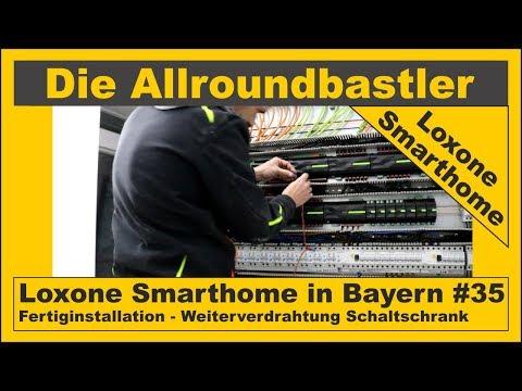 Loxone Smarthome - Fertiginstallation in Bayern #35 - Weiterverdrahtung Schaltschrank