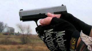 shooting the kahr cw9 9mm pistol slo mo