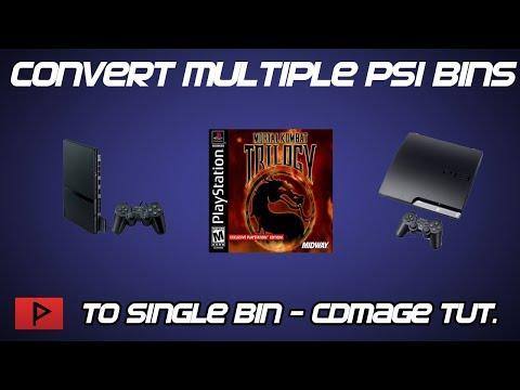 Convert Multiple PS1 BINs to Single BIN Using CDMAGE Tutorial