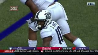 TCU vs Arkansas Football Highlights