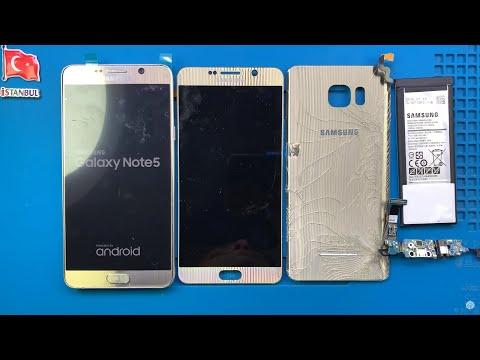 PARÇALANMIŞ! Samsung Galaxy Note 5 Ekran Arka Cam Kapak Batarya Şarj Soketi Değişimi 🇹🇷