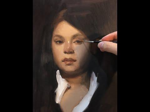 Alla-Prima Portrait Painting Demo   John Singer Sargent Master Copy