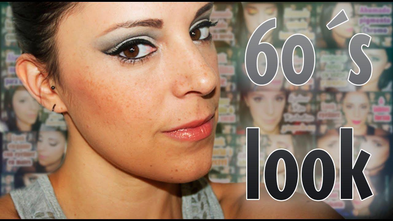 bcb1bafdd Maquillaje inspirado en los años 60 - YouTube