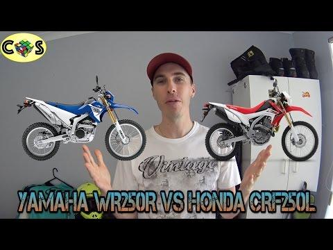 WR250R vs CRF250L: Comparison Review