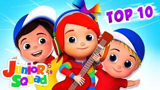Top 10 Nursery Rhymes and Baby Songs | Wheels On The Bus | Junior Squad | Kids Tv