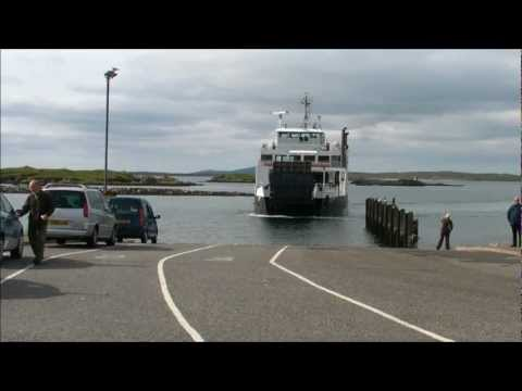 Ferry to Berneray, off North Uist, from Leverburgh, Isle of Harris, Outer Hebrides, Scotland