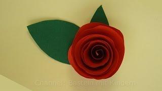 Blumen basteln: Rosen basteln mit Papier - DIY Bastelanleitung - DIY Geschenk basteln