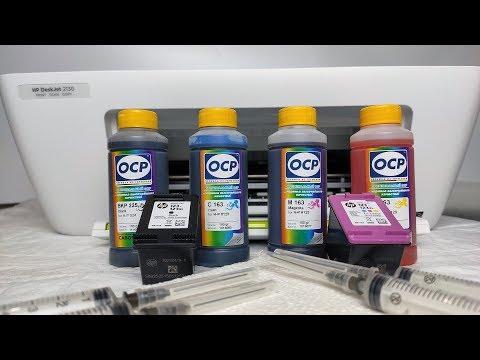 Заправка картриджа HP 123 принтера DeskJet 2130/2620 цветного и чёрного в домашних условиях