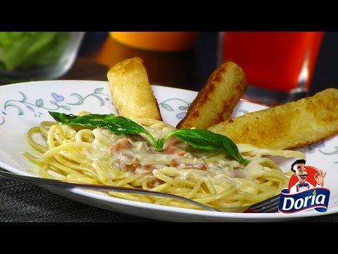 Spaghetti Mantequilla Doria en Salsa de Tocineta