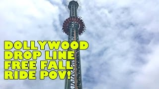 Drop Line New Free Fall Drop Tower at Dollywood! Multi-Angle Onride POV