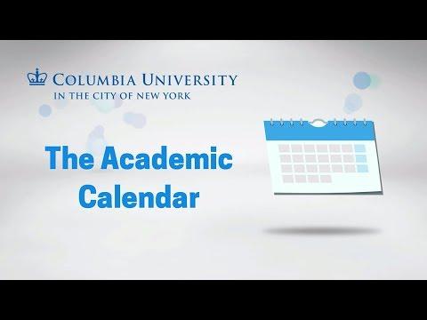 The Academic Calendar