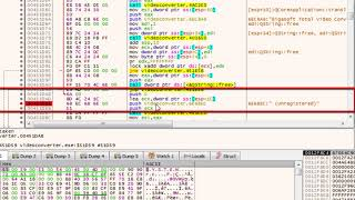 How to crack Bigasoft Total Video Converter and remove the trial limitations using x64dbg