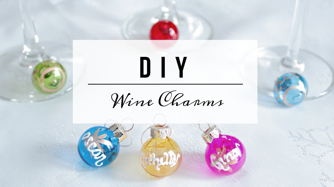 Diy Wine Glass Charms Dollar Store Holiday Gift Favour